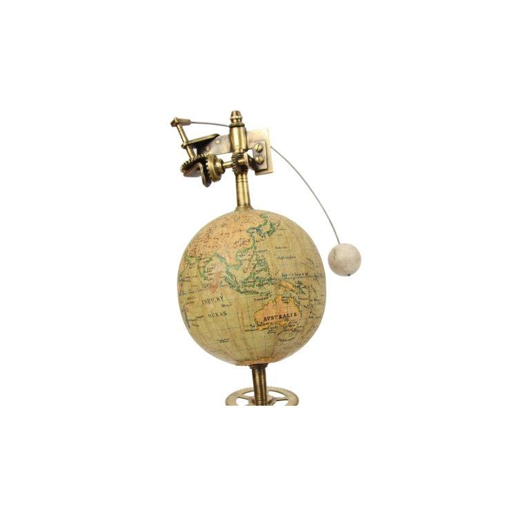 Brass Antique Rare Mechanical Orrery, Astronomical Instrument  by Jan Felkl Praga 1870 For Sale