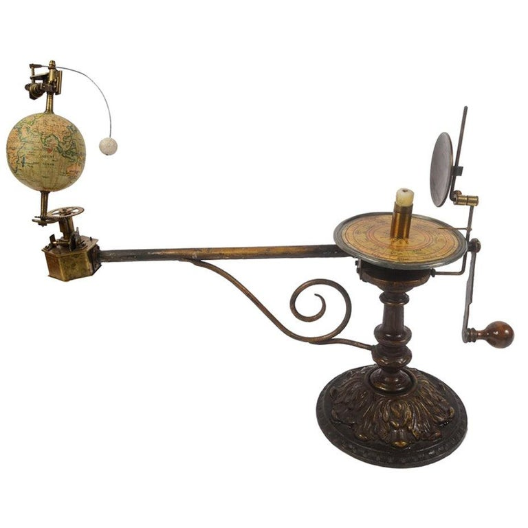 Antique Rare Mechanical Orrery, Astronomical Instrument  by Jan Felkl Praga 1870 For Sale