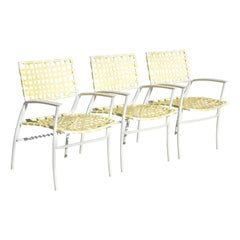 Medallion Aluminum Yellow Woven Vinyl Strap Patio POOL Lounge Chair, 1 Chair