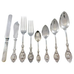 Medallion by H&S Sterling Silver Flatware Service for 12 Set 104 Pieces