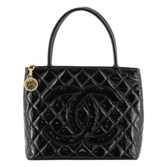 Medallion Tote Quilted Patent