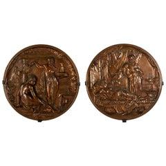 Medallions of King David and Bathsheba, Othello and Desdemona