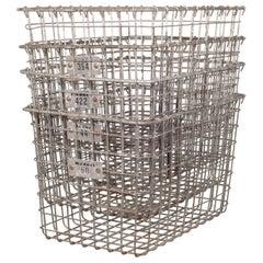 Medart Gym Locker Wire Baskets, circa 1940-1950