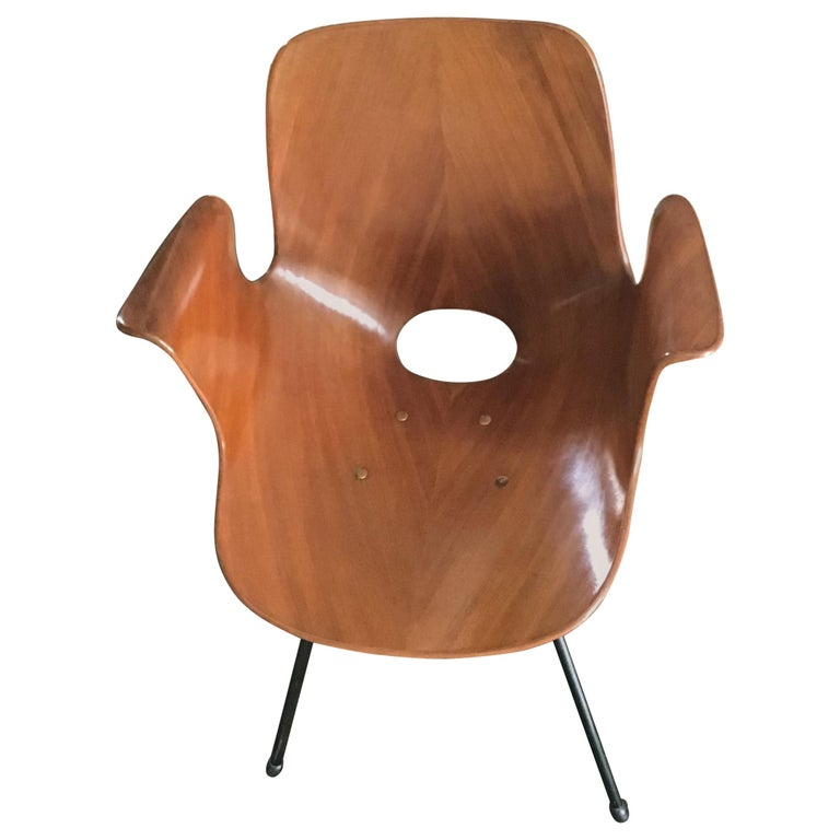 """Medea"" Armchair by Vittorio Nobili Wood Iron, 1956, Italy  For Sale"