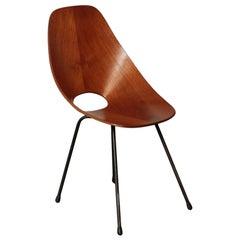 Medea Chair Bentwood and Metal 1960s F.lli Tagliabue