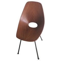 Medea Chair Vittorio Nobili/Fratelli Tagliabue 1955 Iron Wood Brass, Italy