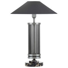 Medea Dark Gray Table Lamp by Acanthus