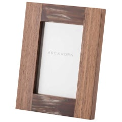 Medea Picture Frame in Canaletto Walnut and Matte Corno Italiano, Mod. 5314no
