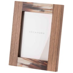 Medea Picture Frame in Canaletto Walnut and Matte Corno Italiano, Mod. 5315no