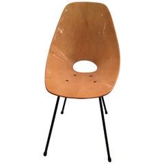"Medea Vittorio Nobili ""Fratelli Tagliabue ""Chairs Wood Iron, 1950, Italy"