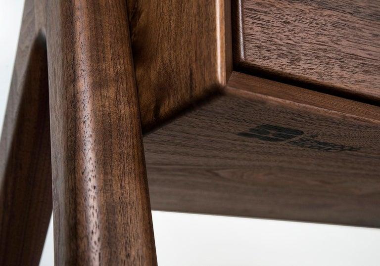 Media Credenza, Cabinet, Storage, Midcentury, Danish Weave, Custom, Wood, Shelf For Sale 3