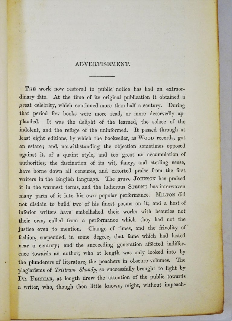 Medical: Burton's Anatomy of Melancholy, in Leather, New Edition, London, 1863 9