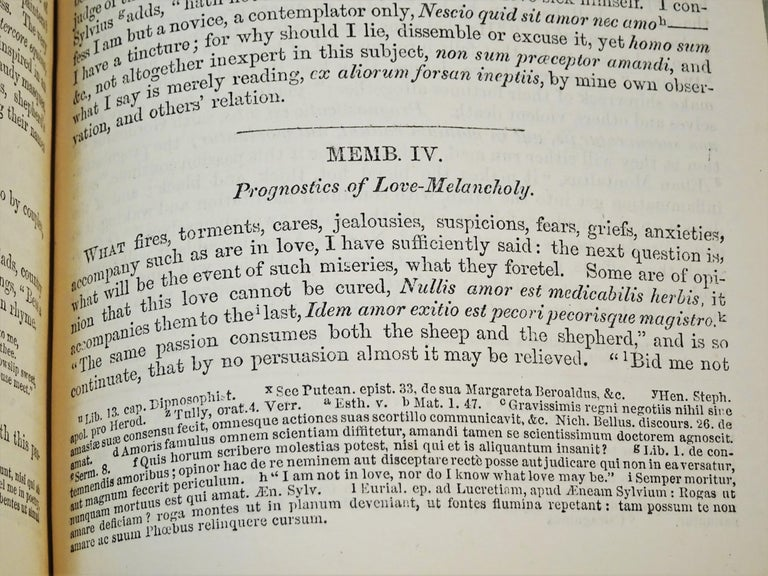 Medical: Burton's Anatomy of Melancholy, in Leather, New Edition, London, 1863 11
