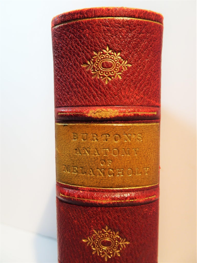 This is an 1863 printing of the 1652 revised and expanded edition of the famous work by Robert Burton (1577-1640). The original work was published in 1621 and became a 17th century bestseller with many re-printings throughout the century. This
