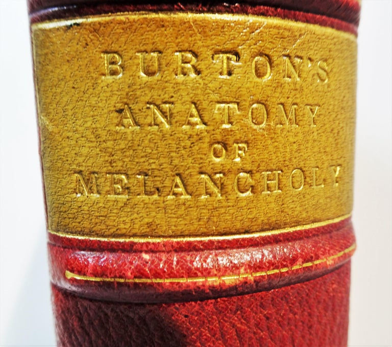 Victorian Medical: Burton's Anatomy of Melancholy, in Leather, New Edition, London, 1863