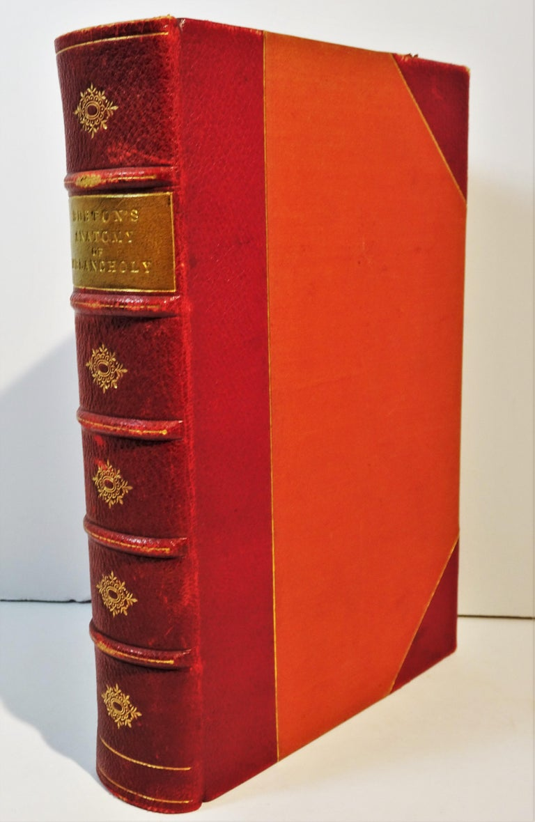 Embossed Medical: Burton's Anatomy of Melancholy, in Leather, New Edition, London, 1863