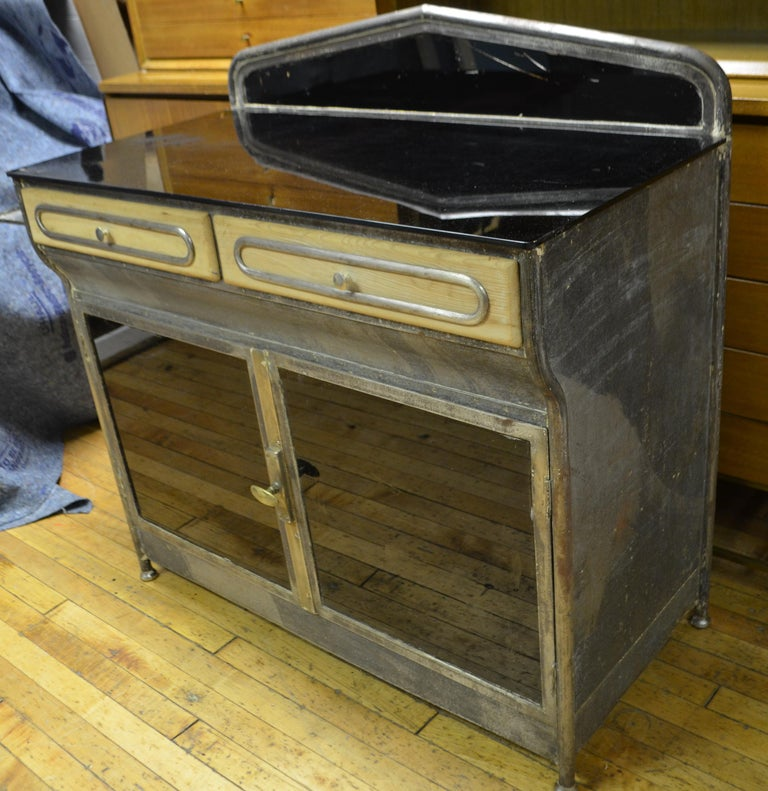Early 20th Century Medical Cabinet from the Art Deco Period, circa 1920s For Sale