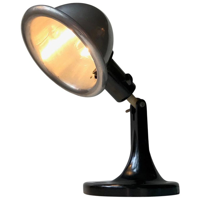 Medical DDR Table Lamp in Bakelite and Aluminium, circa 1940 For Sale
