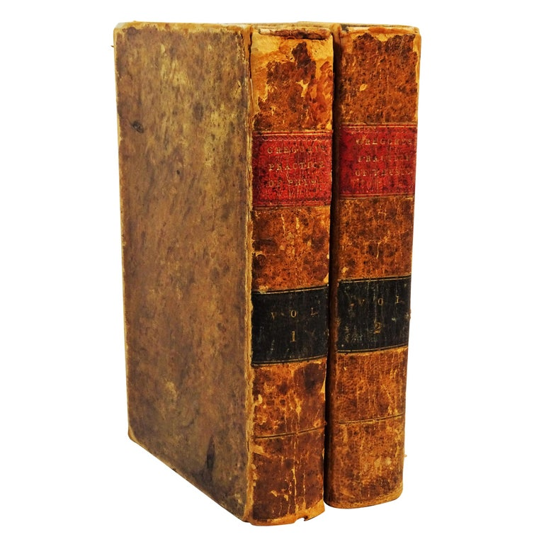 """Medical, """"Gregory's Practice of Physic"""", 2 Leather Vols., Philadelphia, 1829"""