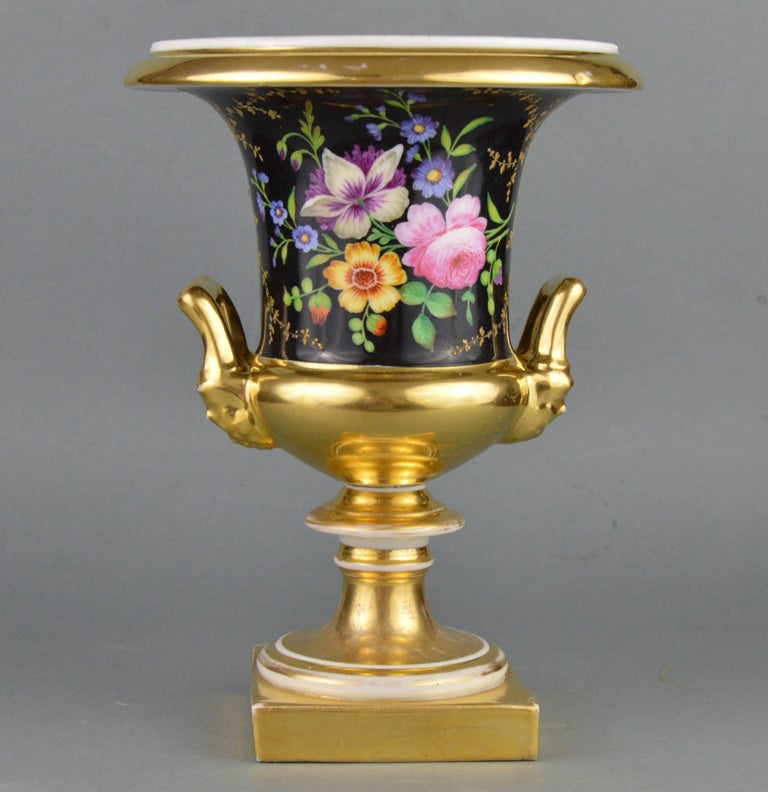 Medici Porcelain Vase Hand Painted Flower Ornamented Decoration