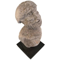 Medieval 16th Century Italian Carved Stone Bust