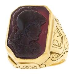 Medieval Carnelian Cameo-Set Georgian Ring
