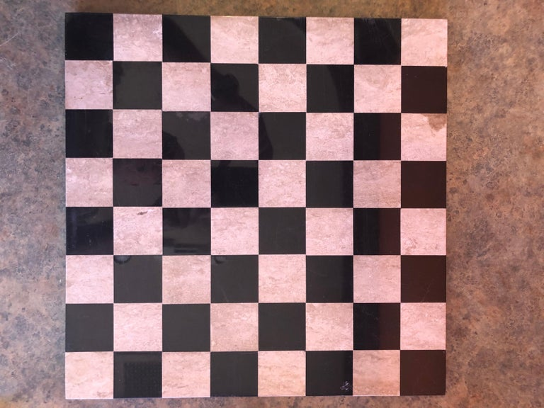 Medieval Chess Set by Duncan on Onyx Board For Sale 6
