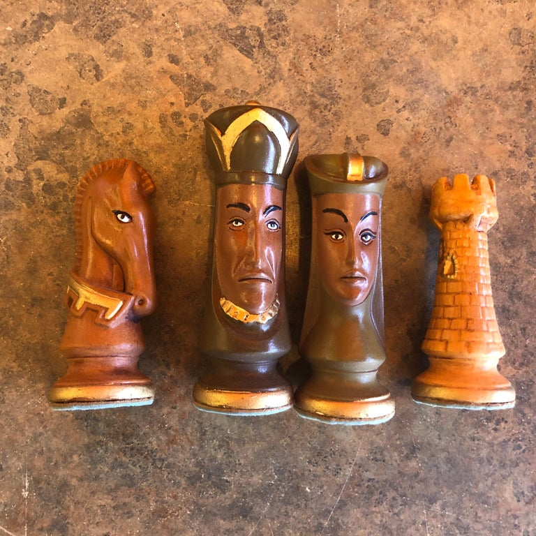 Medieval Chess Set by Duncan on Onyx Board For Sale 2