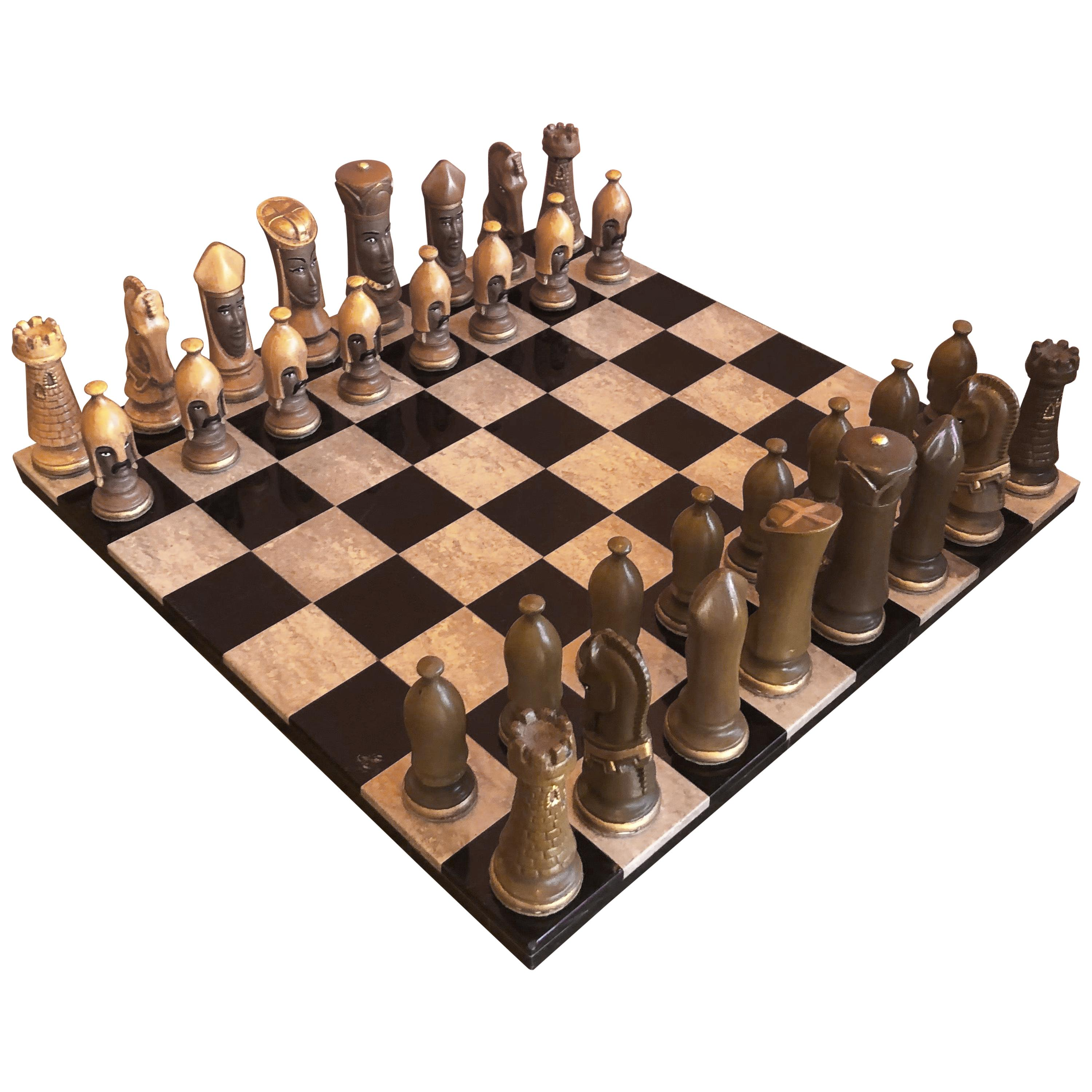 Medieval Chess Set by Duncan on Onyx Board