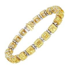 Medieval Classic Solitaire Asscher Bracelet 'P.Hirani' 23.62cts