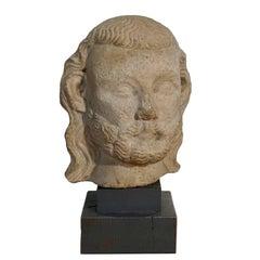 Medieval Limestone Bust