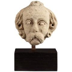 Medieval Limestone Head