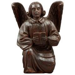 Medieval Oak Rood Screen Angel, English, circa 1450-1460