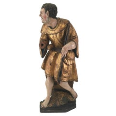 Medieval Sculpture of a Shepherd, Part of a 16th Century Retable Piece