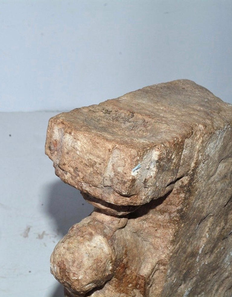 Hand-Carved Medieval Style Architectural Stone Sculpture For Sale