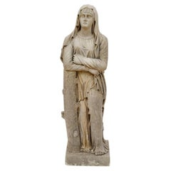 Medieval Style Carved Stone Garden Statue, 18th Century
