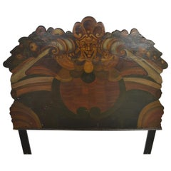 Medieval Style Painted Headboard