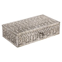 Medieval Style Continental Silver Jewelry Box