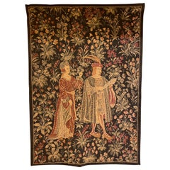 Medieval Tapestry Characters Surrounded by A Thousand Flowers