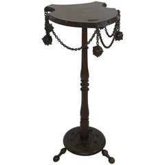 Medieval Themed Smoking Side Table with Mace and Chain