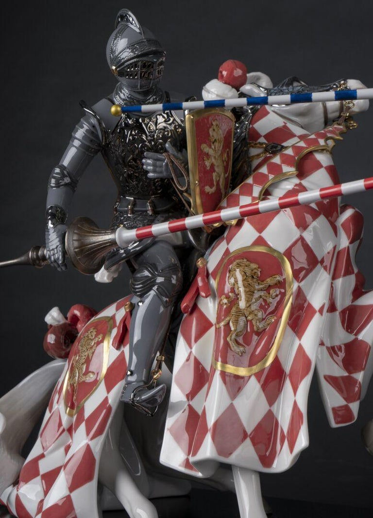 Spanish Medieval Tournament Sculpture. Limited Edition For Sale