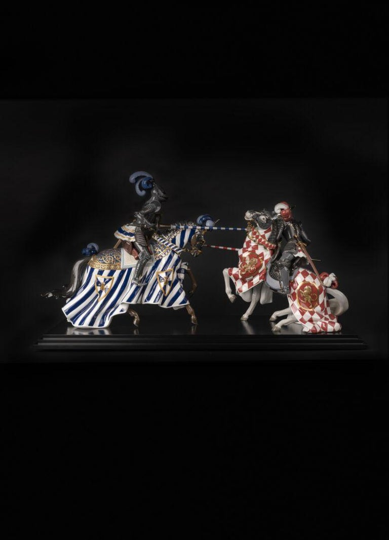 Hand-Painted Medieval Tournament Sculpture. Limited Edition For Sale