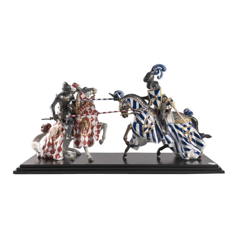 Medieval Tournament Sculpture. Limited Edition For Sale