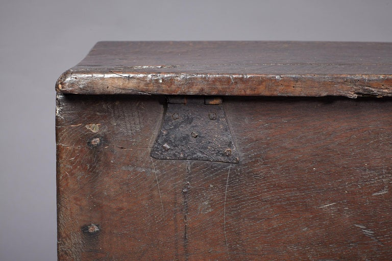 Medieval, Tudor Oak Boarded Chest, Henry VII / VIII, English, circa 1480-1530 For Sale 5