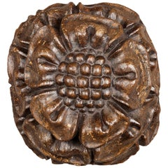Medieval Tudor Rose Oak Ceiling Boss, English