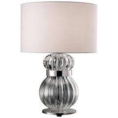 Medina 5686 Table Lamp in Glass with White Shade by, Barovier&Toso