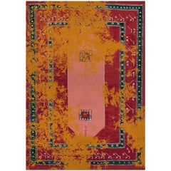 Medina Rug in Hand Knotted Wool and Botanical Silk