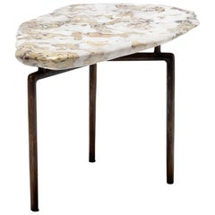 Meditation Stone Top Side Table