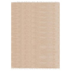 Meditative Lines Customizable Today Weave Rug in Biscuit Large