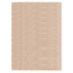 Meditative Lines Customizable Today Weave Rug in Biscuit Small